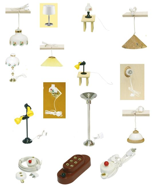 neu r lke beleuchtung lampe f r puppenhaus 1 12 wandleuchte stehlampe h ngelampe ebay. Black Bedroom Furniture Sets. Home Design Ideas